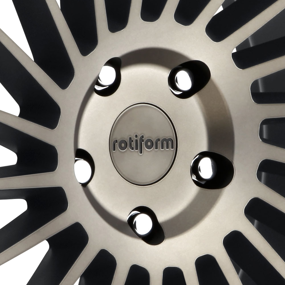 ROTIFORM IND-T Black with Machined Face and Double Dark Tint